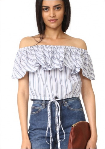 Jill Stuart Off Shoulder Blouse