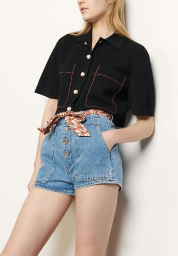 SANDRO Belted shorts **Final sale