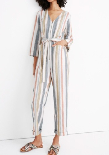 Madewell Striped Jumpsuit