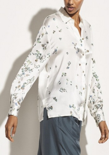 Vince Printed Blouse