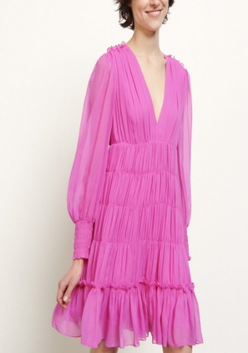 Sandro Ruffle Dress
